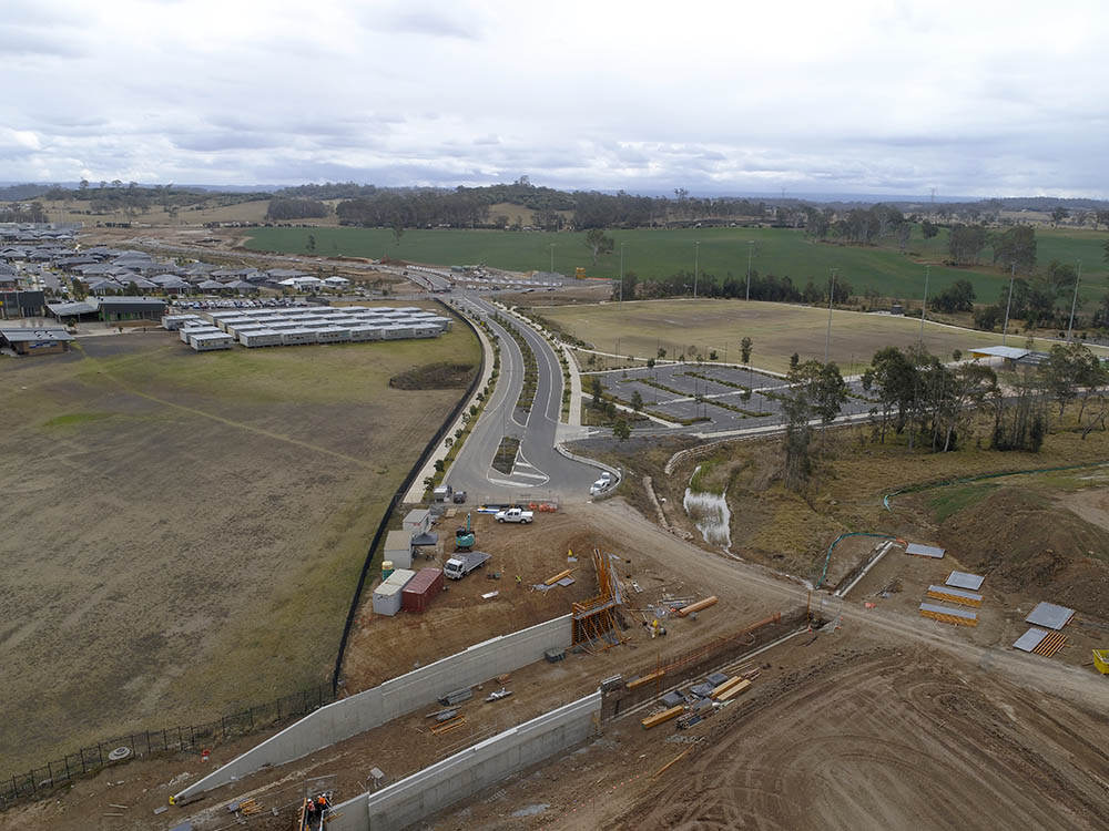 Oran Park Holden Dr Bridge Aerial
